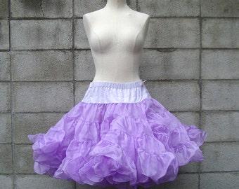 Purple Crinoline Vintage Super Full Soft Skirt Tutu Malco Modes Petticoat Women's size S