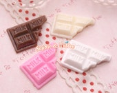 Chocolate Milk Bar Cabochons - 12pcs