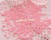 2mm Pastel Pink Round Faux Fake Pearls Beads - 400pcs / Fake Toppings for Fake Food