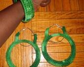 I Want It All, Crochet Earrings and Bracelet Set