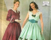 Historical Civil War Antebellum Day Dress Costume Simplicity 7312 Sewing Pattern Plus Size 10 12 14  Bust 32.5 34 36