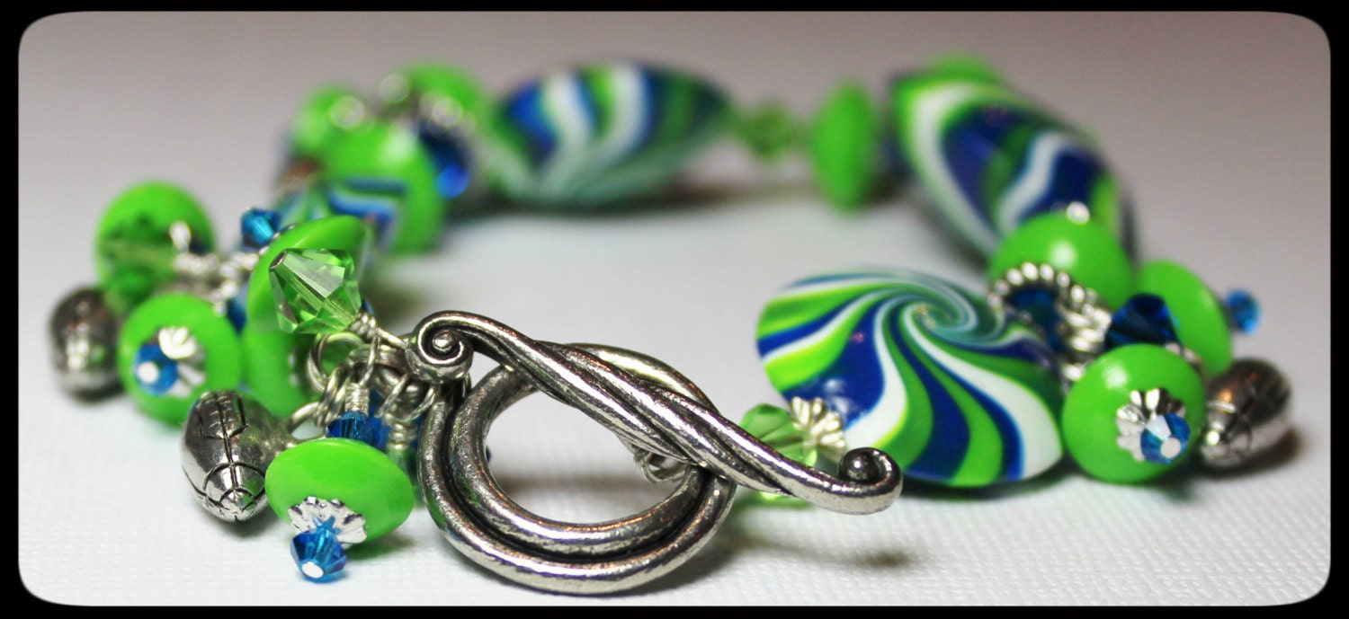 handmade jewelry seattle seattle seahawks handmade jewelry bracelet beaded cha cha 4504