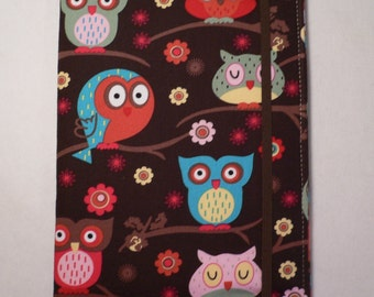 Kindle cover Hardcover, Kindle Paperwhite Cover, iPad Mini, Nook Tablet Cover,  Book Style, Owls