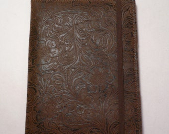 Kindle Hardcover, Kindle Fire Cover,  eReader Cover,  Book Style, Brown Vinyl
