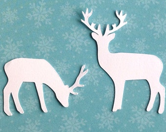 2 deer die cut embellishments set of 8 in any color great for cardmaking