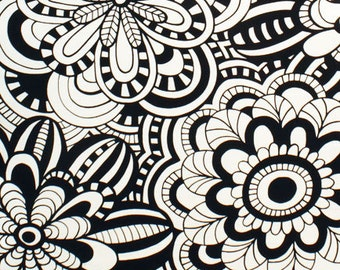 Artemis in Tea and Black Home Decor Fabric by Alexander Henry - 1 Yard