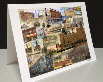 Welcome to Northeast 5 x 7 Greeting Card - Northeast Minneapolis, MN