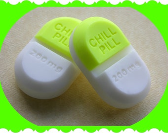 CHILL PILL SOAP - COCoNUT LiME - Gag Gift - Bridal Baby Shower - Doctor - Medical - Nurse - Mental Health - New Mom - Babysitter - Teens