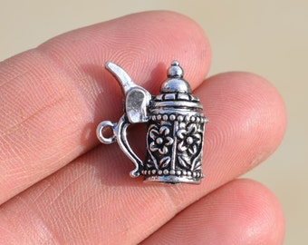 BULK 20 Silver Beer Stein Charms SC1270