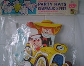 Vintage Birthday Party Hats 1970's by Party Time Products Ltd in Canada New Old Stock