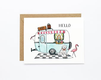 Any Occasion Card - Camper Hello Dogs