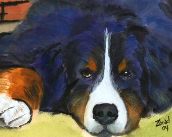 Bernese Mountian Dog Art Print Mary Jo Zorad