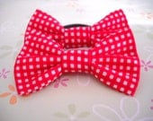 Ponytail Bows - Michael Miller Red Gingham