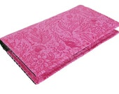 Fabric Business Card Holder Case or Credit Card Holder Case / Wallet, Pink Floral