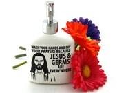 Jesus soap Dispenser in white, novelty gift, funny, confirmation, baptism, gift for pastor,minister,preacher,inspirational
