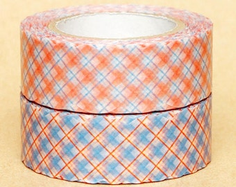 NamiNami Washi Masking Tape - Pink & Blue Checks