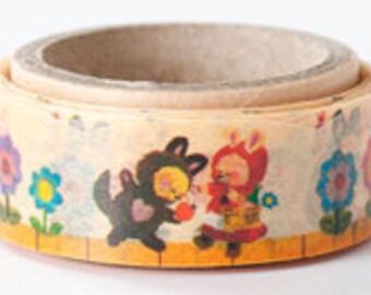 Oriental Berry Washi Masking Tape - Little Red Riding Hood - Die Cut