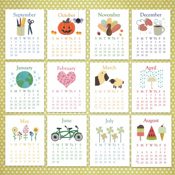 Calendar For Sale : Unavailable listing on etsy