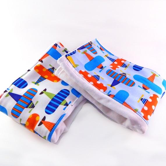 Airplane Burp Cloths Boy - Blue set of 2 // Diaper Burp Cloth // Plane Burp Cloth // Baby Shower Gift // Cotton Burp Cloth // Newborn Gift