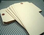 "Manilla Shipping Tags Jumbo Size  8"" x 4"" - Set of (20) tags"
