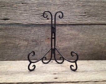 Scroll Iron Easel, for table or wall