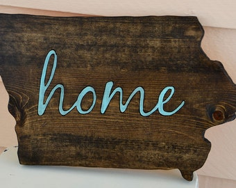 HOME - custom state wood sign - all states available