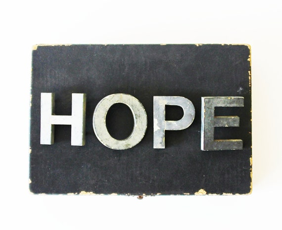 Hope vintage letters vintage marquee letters large by becaruns for Large vintage marquee letters