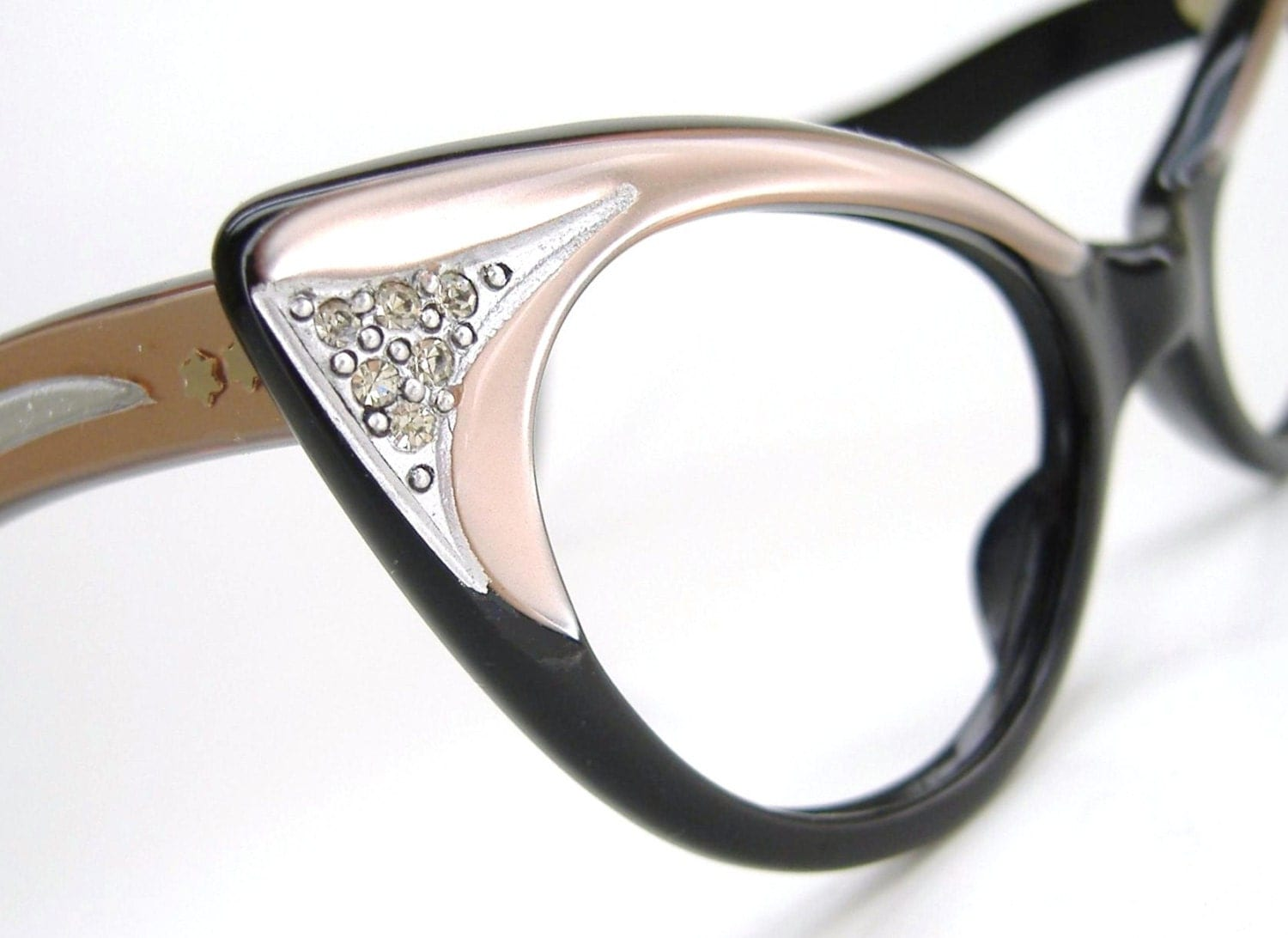 Vintage Pink Cat eye Glasses Sunglasses Eyeglasses Ornate