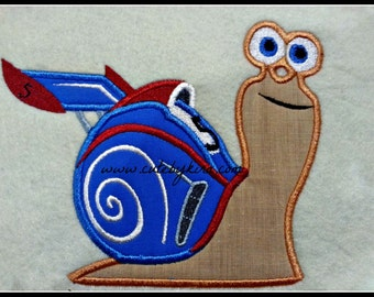 Fast Snail Applique Embroidery Design