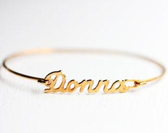 Vintage Name Bracelet - Donna