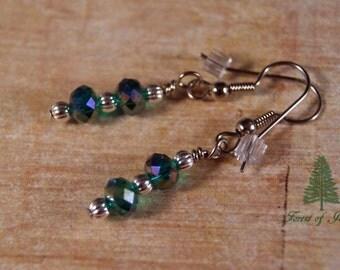 Sea Spray Crystal Earrings