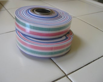 Ribbon, vintage stripes two rolls one price, a kind of paper fabric 1990's