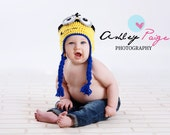 Crochet Minion Hat, Crochet Despicable Me Hat, Baby, Toddler, Child - Made To Order - Great For Photos or Everyday Fun