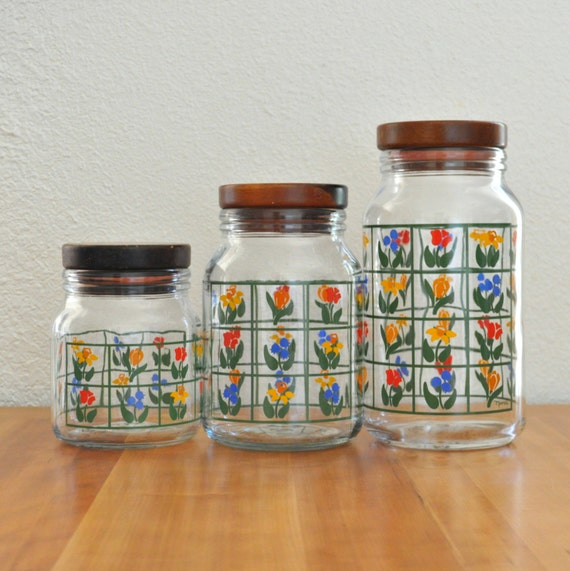 cute anchor hocking nina kitchen canisters set