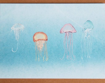 J is for Jellyfish Card