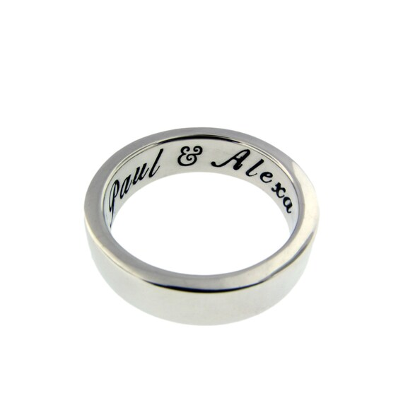 thick sterling silver wedding ring personalized classic band