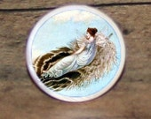Feather FAIRY TALE Tie tack or Cuff links or Ring or Pendant or Brooch