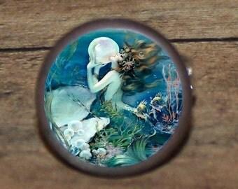 Mermaid Cuff links or tie tack or ring or pendant or brooch