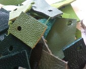 Leather scraps - green