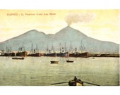 Vesuvius Italian Postcard early 1900s