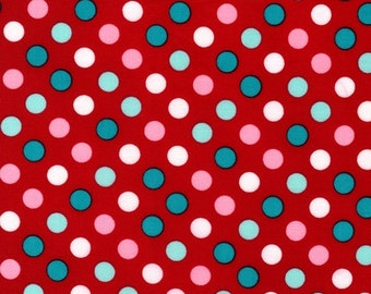 Robert Kaufman Fabric Spot On Polka Dots Lipstick