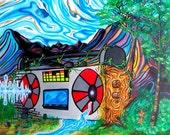 Earth Tones  - Original Surreal Painting - mizuarts