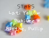 The Original Rainbow Star Bracelet for Lati Yellow, Blythe, Pullip, & similar dolls