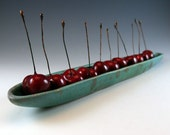 Pottery Olive Bowl - Olive Dish - Cherries - Tomatoes - Weathered Bronze Green - 613