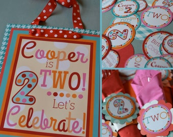Polka Dot Birthday Party Decorations Fully Assembled Pink Red Aqua Orange