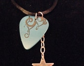 Evening Star ~Guitar Pick Necklace