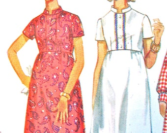 60s Butterick 5201 One-Piece Dress Pattern   Bust 31.5