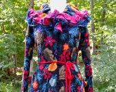 Reserved for GL. Patchwork multicolor  wool sweater  Coat. Size L/ XL