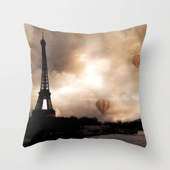 Items similar to Eiffel Tower Paris Throw Pillow, Paris Pillows Cover, Paris Throw Pillow Home ...