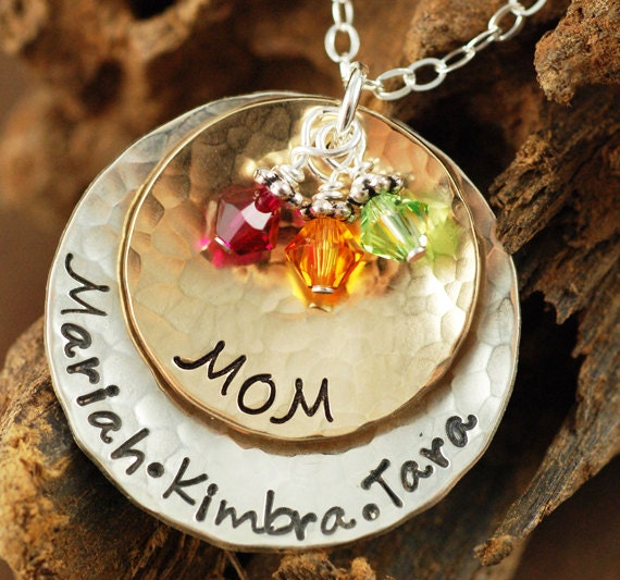Hand Stamped Jewelry, Personalized Jewelry, Mommy Necklace